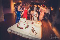 white cherry wedding cake