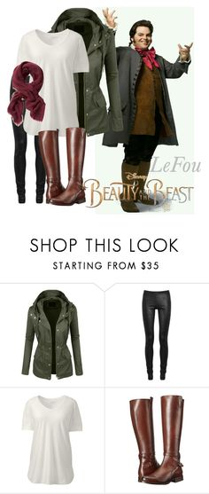 """""""LeFou Beauty and the Beast"""" by samsonite42 ❤ liked on Polyvore featuring LE3NO, Rick Owens, Lands' End, Frye, Banana Republic, Disney, BeautyandtheBeast, contestentry and plus size clothing"""