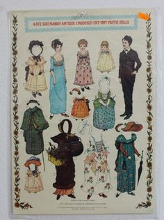 NIP Old Stock Kate Greenway Antique Paper Doll Cut Out | eBay