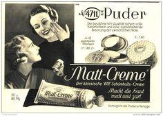 Original-Werbung/ Anzeige 1936 - 4711 PUDER / MATT-CREME - ca. 220 x 170 mm
