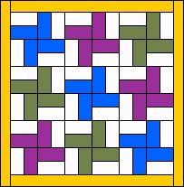 Could be an easy 2 color quilt