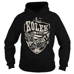 I Love Its a KOLEK Thing (Eagle) - Last Name, Surname T-Shirt T shirts