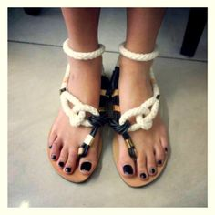 Leather Sandals  One of a Kind  Greek Leather by EleannaKatsira, €65.00