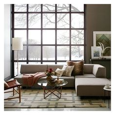 West Elm Tillary Set 2- ( Base, Back Cushions, 2 Ottomans, Corner... ($2,846) ❤ liked on Polyvore featuring home, furniture, sofas, low sofa, velvet sectional, hand made furniture, velvet furniture and west elm sectional
