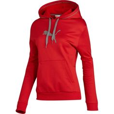 8aa4c8bdbfd7 puma fleece  ribbon red Fleece Hoodie