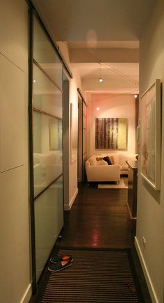 glass wall and door