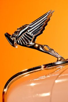 1931 Cord L-29 LeGrande Speedster Hood Ornament by Jill Reger..Re-pin...Brought to you by #CarInsurance at #HouseofInsurance in Eugene, Oregon