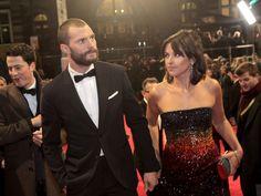 Jamie Dornan and his gorgeous wife Amelia Warner arriving at the 2017 BAFTAs Feb.