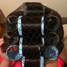 Big Hair Rollers, Roller Set, Curlers, Bobs, Hair Beauty, Fashion, Rollers In Hair, Mesh, Moda