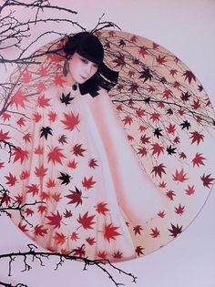 Sayoko Yamaguchi  山口小夜子  「LE FEUILLAGE」『モイスチャー・ミスト』Created by Serge Lutens 1981
