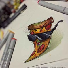 Cool pizza tattoo