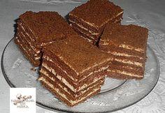 Csokis Marlenka (kommenteket is nézni kell! Hungarian Cookies, Hungarian Desserts, Sweet Recipes, Cake Recipes, Dessert Recipes, Sweet Tooth, Good Food, Food And Drink, Cooking Recipes