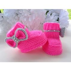 P A T T E R N Knitting Baby Booties Girl Baby Shoes Knitted Baby Boots Knit Pattern $5.50