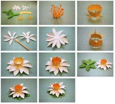 More 3d paper flowers flowers paper pinterest 3d paper bits of paper fringed and spring paper flowers mightylinksfo