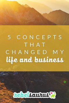 Sometimes people ask me where they should start if they want to improve their life, so I decided to make a list of the major personal development concepts I've learned over the last few years that were game-changing for me. Here are 5 concepts that changed my life and business.