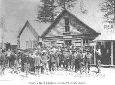 Soapy Smith ultimately met his end when a possee like this one in Skagway went after him. A similar group in my story The Gold Rush Christmas stood up to Smith's thuggery to help the sporting women.