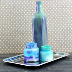 These DIY Swirl Glass vases are super simple and fun to make. Most of the items needed are probably already in your house!