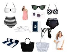 """""""A day at the beach"""" by kelseyisabelll ❤ liked on Polyvore"""