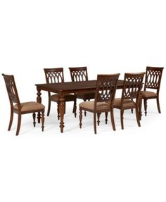 Crestwood 7-Piece Dining Room Furniture Set (Dining Table and 6 Side Chairs)