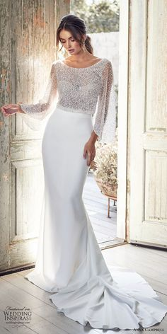 Wedding Dresses in Salt Lake City : The Bridal Studio : Anna Campbell Trunk Show Event March & 2020 at The Bridal Studio in Salt Lake City for One weekend only! Receive off your purchase of Anna Campbell gowns during the trunk show event! Wedding Dress Rose, Muslim Wedding Dresses, Stunning Wedding Dresses, Designer Wedding Dresses, Dream Wedding Dresses, Bridal Dresses, Wedding Gowns, Bridesmaid Dresses, Elegant Dresses
