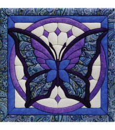 """Butterfly Quilt Magic Kit-12""""X12"""""""