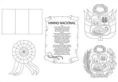 Símbolos patrios Perú para colorear