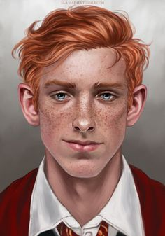 a commission of Ron Weasley for Patricia. thank you again for commissioning me!