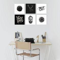 [NUEVO] Pack de 6 cuadros diseños en blanco y negro