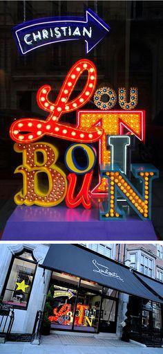 #VisualMerchandising, #Window #Display, #Retail #Louboutin