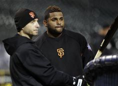 Scutaro/Sandoval Practice for World Series Game 3 @ Comerica Park in Detroit.