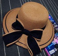 Women Wide Periphery Striped Straw Beach Hat