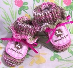 pink camo for baby nursery | ... Authentic pink camo camouflge ruffled baby girls booties crib shoes
