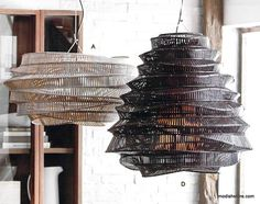 Roost Bamboo Cloud Chandeliers | Roost Hanging Lamps. The Bamboo Cloud Chandelier is an iconic product. Being the most talked about product by Roost, it is the work of a Thai artist. This young artist trains fishermen to use bamboo weaving traditional techniques in a more contemporary and non-traditional way.  The intricately woven geometric joints of this modern Bamboo Chandelier are tied by hand. Each lamp gets a unique identity as it has the handmade quality. – Modish Store
