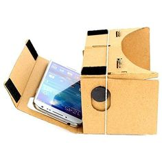 "Generic Google Cardboard Virtual Reality VR Mobile Phone 3D Viewing Glasses DIY kit. Google Cardboard DIY kit for Virtual Reality VR Mobile Phone 3D Viewing Glasses for 5.0"" Screen Google Glasses."