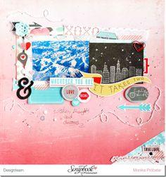 #papercraft #scrapbook #layout. *Imagicallery*: {Scrapbooking} Layout- Wherever you are (+ zurück aus Fuerteventura)