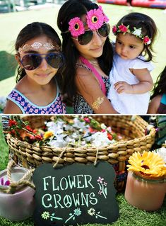 Flower crowns, VIP wristbands, and flash tattoos. are we at Coachella! I'm so stoked about this Cool Coachella Inspired First Birthday Party styled Hippie Birthday Party, Coachella Birthday, Hippie Party, Coachella Party Theme, Coachella Party Decorations, Third Birthday, First Birthday Parties, First Birthdays, Birthday Ideas
