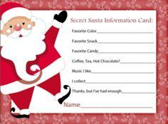Secret santa sheet printable sign up sheet for gifts for teachers my