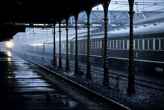 Kimberley Train Station on rainy day ~ South Africa Diamond City, Train Tracks, Science And Nature, Model Trains, Rainy Days, South Africa, Tourism, Beautiful Places, Scenery