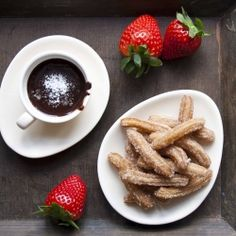 Churros and chocolate for ONE! - super easy recipe with extra thick chocolate sauce