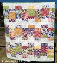 Happy Quilt Front using the Looking Glass pattern from Meadow Mist Designs