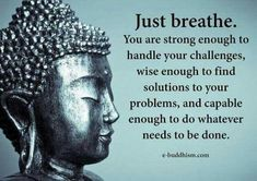 We all have to deal with stress from either work or school. You can't close your eyes to make it go away but you can find peace so you can deal with it. One technique that can offer this is called Zen meditation. Zen meditation is Buddhist Quotes, Spiritual Quotes, Wisdom Quotes, Positive Quotes, Me Quotes, Qoutes, Citations Yoga, Buddha Thoughts, Buddha Quotes Inspirational