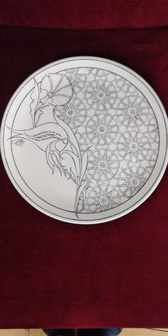 Mrltem tunc çini desen tasarım Islamic Art Pattern, Pattern Art, Pottery Painting, Ceramic Painting, Tile Art, Mosaic Art, Turkish Pattern, Arabesque, Turkish Art
