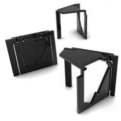 A flat folding stool by Serdar Sişman Multifunctional Furniture, Modular Furniture, Modern Furniture, Furniture Design, Origami Furniture, Folding Stool, Yanko Design, Wood Design, Restaurant Design