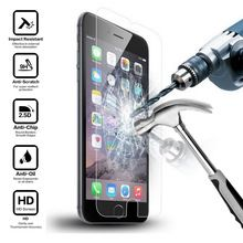 "9 h premium vidro temperado protetor de tela lcd para apple iphone 6 6 s 4.7 ""/6 Plus 5.5 polegada/5 5S 5c se/4 4S Filme Protetor Película Protetora alishoppbrasil"