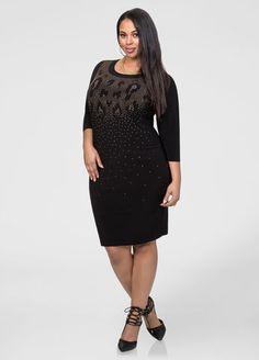Stud Front Bodycon Dress