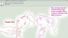 Ask Phineas and Isabella - SHA LA LA LA LA MY OH MY LOOKS LIKE THIS BOY'S TOO SHY YOU GOTTA KISS DA GIRL!!! XD