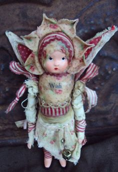 Wish altered art doll by Joann Perotti