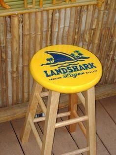 Pool Deck Furniture, Painted Bar Stools, Paint Bar, Man Cave Diy, Backyard Bar, Beach Gardens, Patio Umbrellas, Adirondack Chairs, Painted Furniture