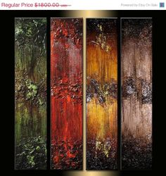Original Textured Abstract painting by newwaveartgallery on Etsy, $1260.00
