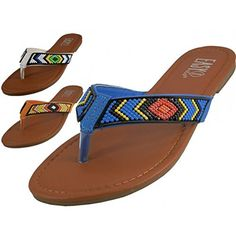 4a595ca9c57 Wholesale Womens Beaded Patterns Flip Flops W3816 Colors White Orange Blue  Assorted Sizes 510 or 611